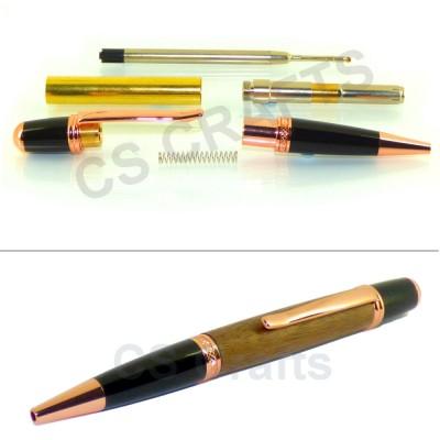 Copper / Black Sierra Pen Kit, Single Kit