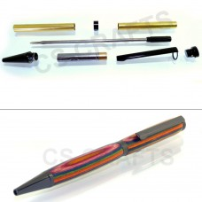 Black Chrome Slimline Pen Kit, Single Kit
