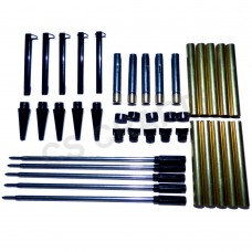 Black Chrome Slimline Pen Kits, Pack of 5