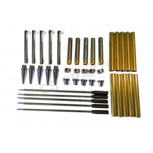 Chrome Slimline Pen Kits, Pack of 5