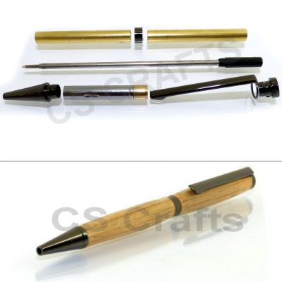 Gun Metal Slimline Pen Kit, Single Kit