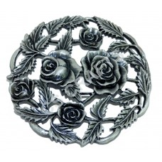 Quality Cast Pewter Pot pourri lid - Roses design