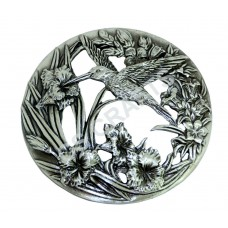 Quality Cast Pewter Pot pourri lid - Hummingbird design