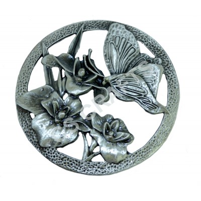 Quality Cast Pewter Pot pourri lid - Butterfly design